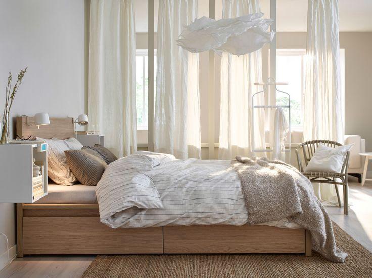 Schlafzimmer Stockholm Exquisit On Für Ein Mit MALM Bettgestell Hoch 4 Schubladen 9
