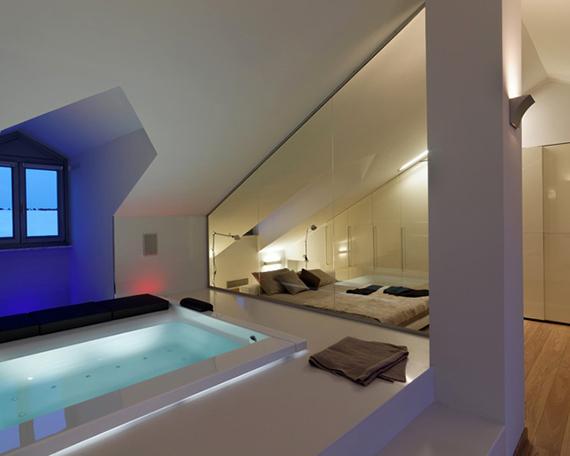 Schlafzimmer Unterm Dach Ausgezeichnet On In Mit Badewanne Im Die Vorteile 4