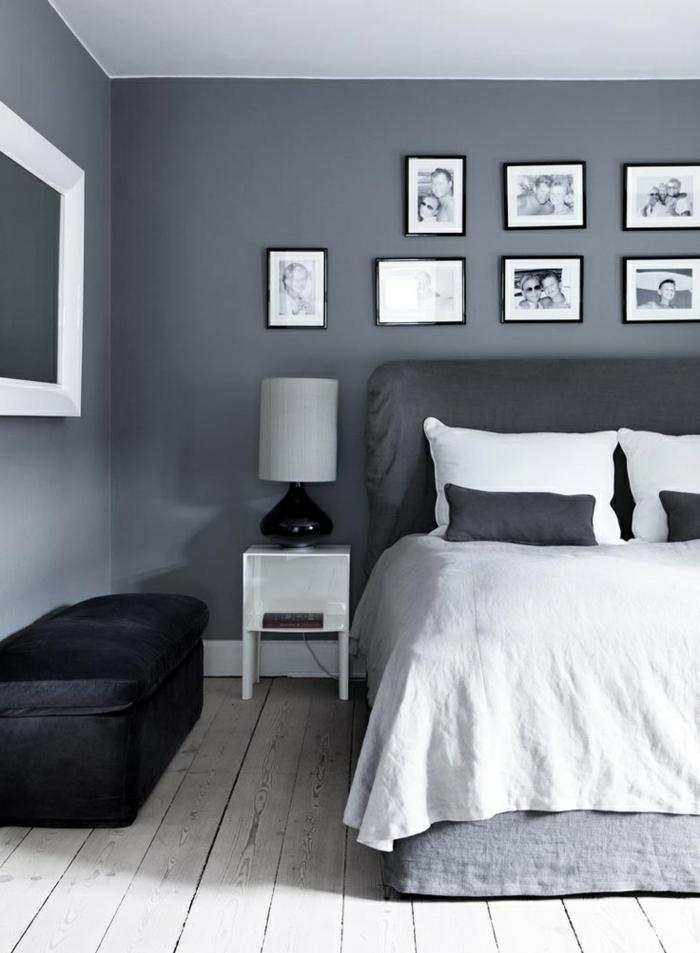 Schlafzimmer Wand Grau Bescheiden On In Für Ideen Auf Robelaundry Com 9