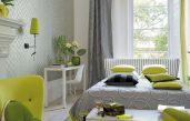 Schlafzimmer Weiß Grau Grün