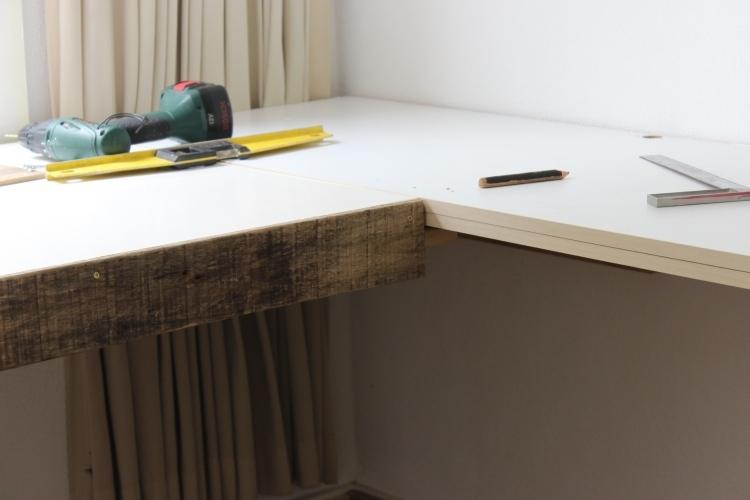 Schreibtisch Bauen Arbeitsplatte Interessant On Andere In Bezug Auf Selber FJ49 Hitoiro 9