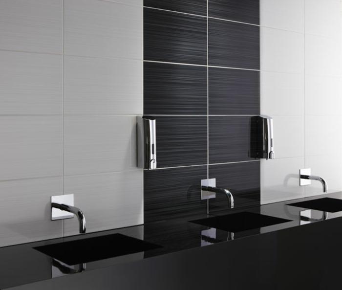 Schwarz Weiß Fliesen Bad Beeindruckend On Andere Mit Badezimmer Kreativ In 8