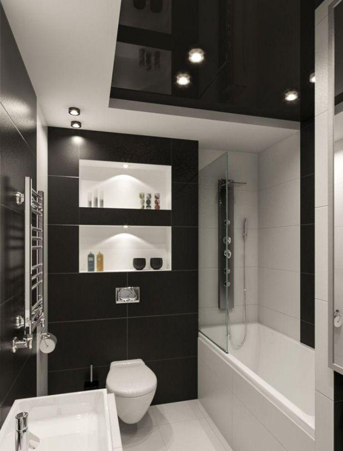 Schwarz Weiß Fliesen Bad Interessant On Andere In Bezug Auf Kleines Badezimmer Ideen Weiss Kombination Matt 4
