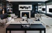 Schwarz Weiß Wohnzimmer