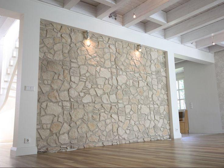 Steinwand Im Haus Beeindruckend On Andere In Bezug Auf Wohnzimmer übernehmen Natursteinwand Mit 2