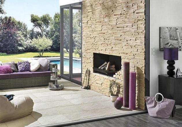 Steinwand Im Haus Imposing On Andere In Bezug Auf Wohnzimmer Design Deko Interieur Für Wohnung 5