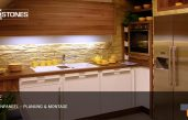 Steinwände Küche