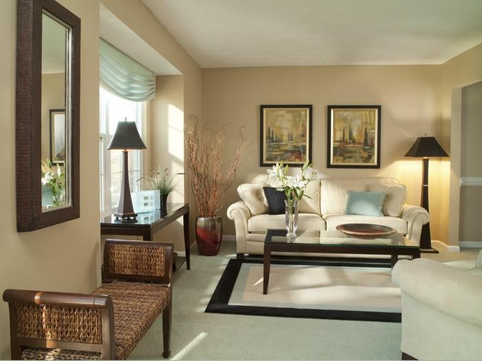 Streichen Im Wohnzimmer Perfekt On Und 1001 Ideen Die Besten Nuancen Auswählen 4