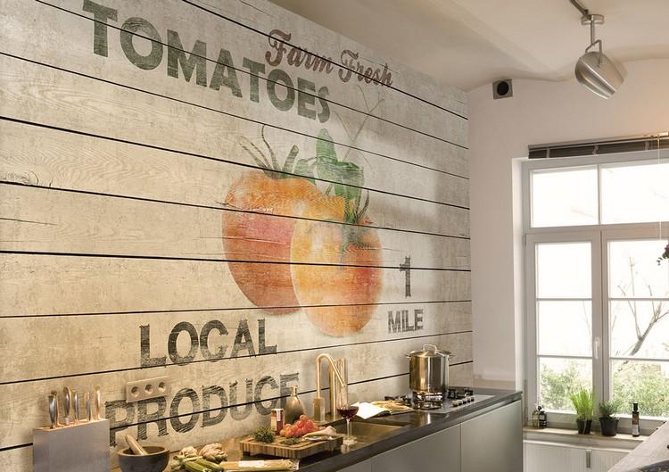 Tapeten Fuer Kueche Glänzend On Andere In Bezug Auf Tapete Für Küche Auswählen 20 Ideen Wandgestaltung Der 9