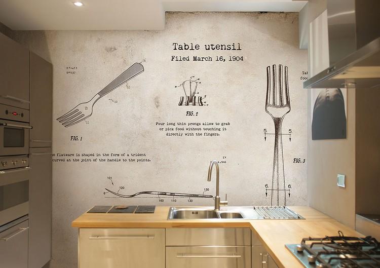 Tapeten Fuer Kueche Imposing On Andere Mit Tapete Für Küche Auswählen 20 Ideen Wandgestaltung In Der 7