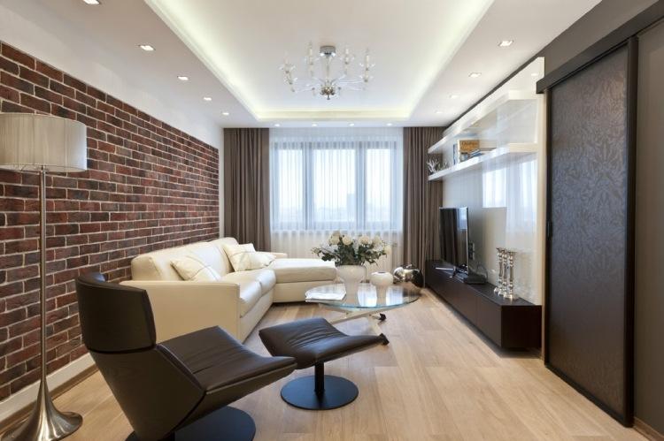 Tapeten Für Wohnzimmer Mit Weißen Hochglanz Möbeln Bescheiden On In 3