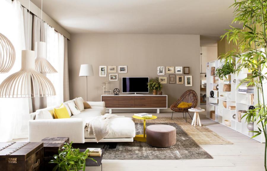 Tapeten Für Wohnzimmer Mit Weißen Hochglanz Möbeln Zeitgenössisch On 9