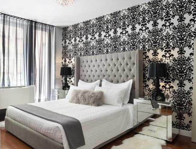 Tapeten Ideen Schlafzimmer Imposing On Auf Haben Eine Vielzahl Von Schönen Gestaltung 6