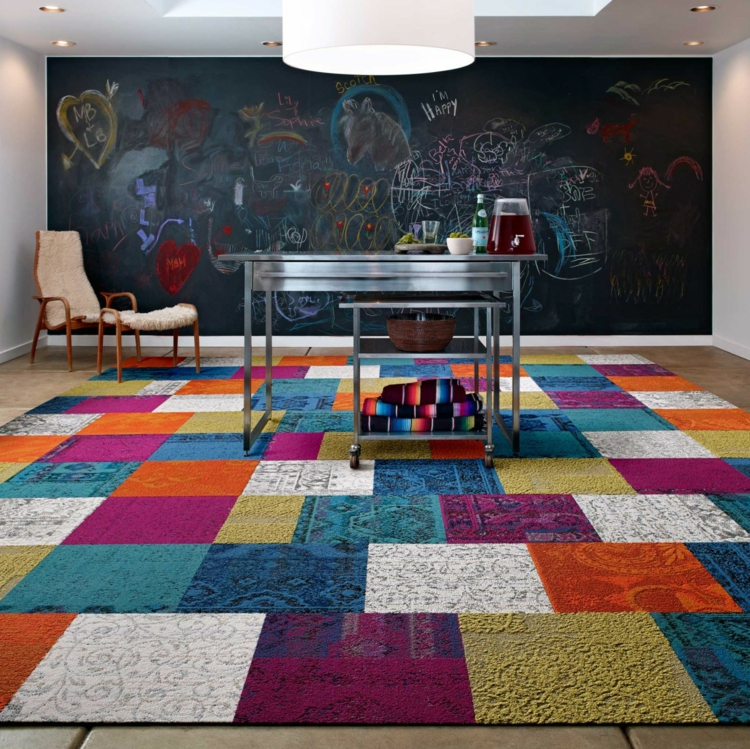 Teppich Ideen Exquisit On Für Patchwork Als Dekoratives Accessoire 30 Bunte Neutrale 7