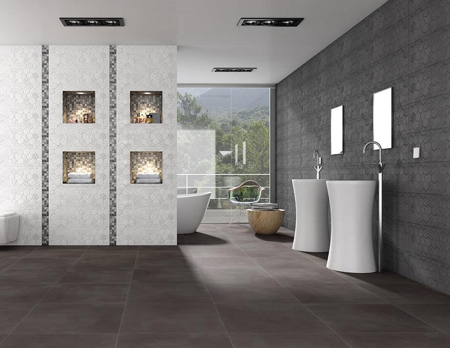 Trend Fliesen Schön On Andere überall Innen Badezimmer Für Böden Feinsteinzeug TREND 4