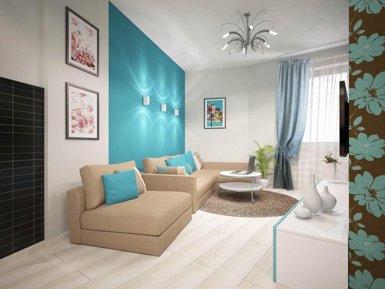 Türkise Wand Modern On Andere Mit Wohnzimmer In Türkis Einrichten 26 Ideen Und 8