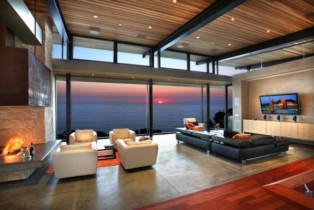 Villa Wohnzimmer Modern On Auf Für Dekoration Zusammen Mit Braun 2