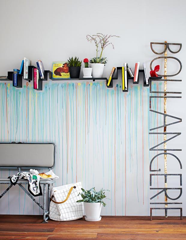 Wand Ideen Wunderbar On Mit Farbreste Als Wandschmuck Bild 7 SCHÖNER WOHNEN