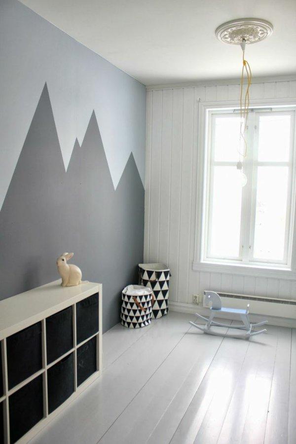 Wandbemalung Kinderzimmer Großartig On Andere überall Wohnideen Geometrische Gestaltung Si 1