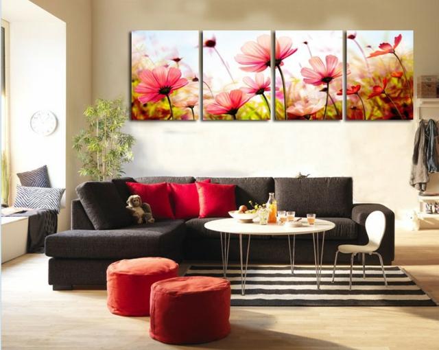 Wanddekoration Wohnzimmer Exquisit On Und Ideen Die Moderne Kunst Als Akzent 5
