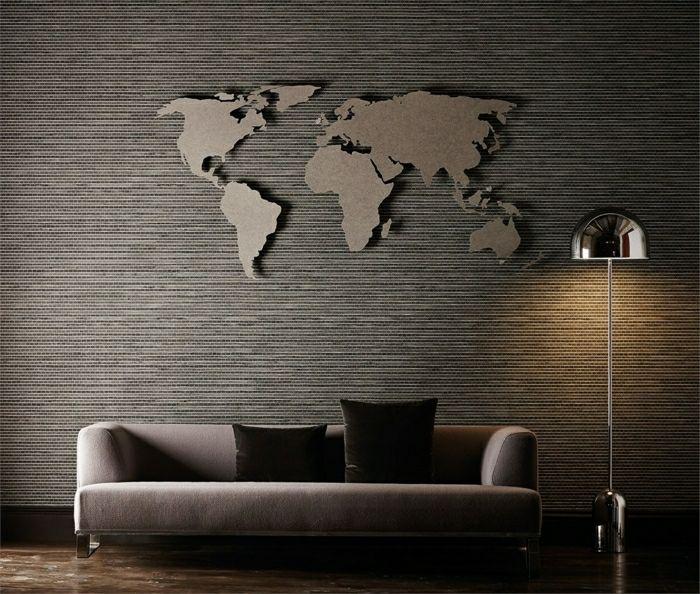 Wanddekoration Wohnzimmer Unglaublich On Auf Wand Im Weltkarte Als Wanddeko Wall Blanket 7