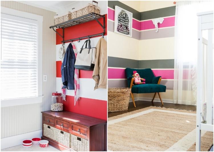 Wände Farben Ideen Herrlich On In Bezug Auf 65 Wand Streichen Muster Streifen Und Struktureffekte 9