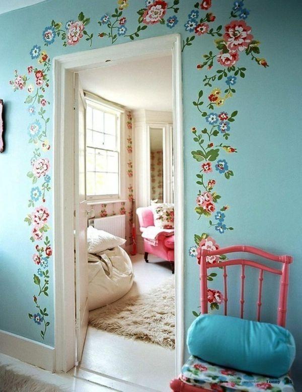 Wände Streichen Mädchen Einfach On Andere Für Erfreuliches Wand Designs Plus Ideen 6