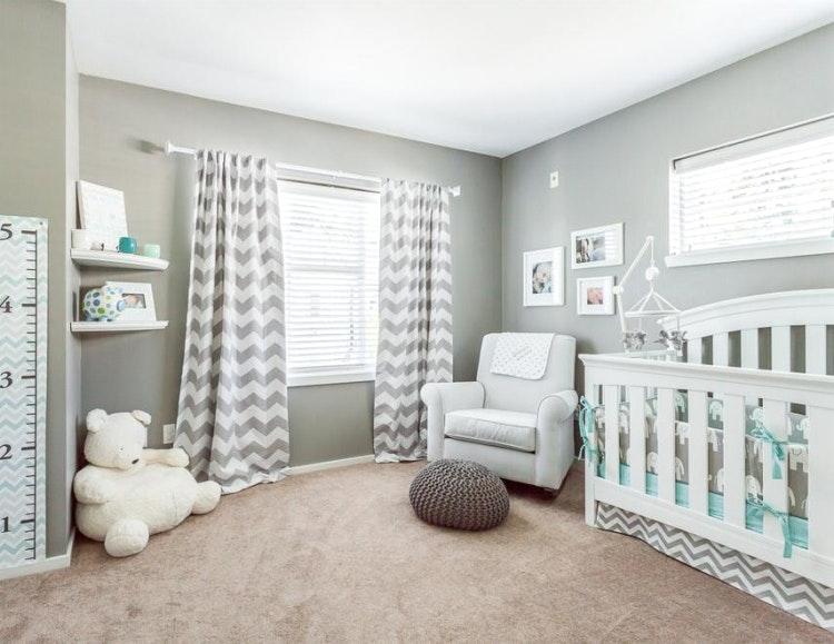 Wandfarben Gestaltung Grau Schön On Andere Und Mit Babyzimmer Gestalten 70 Ideen Für 4