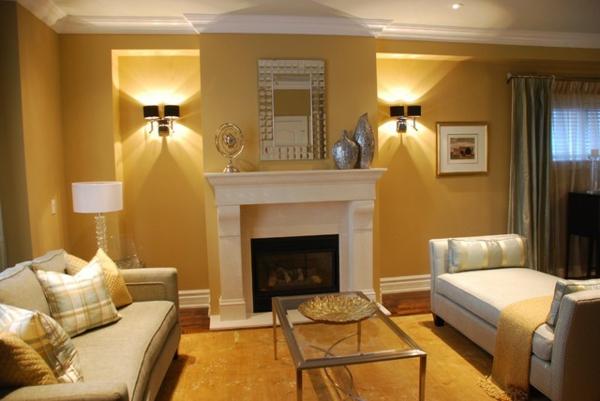 Wandfarben Wohnzimmer Gold