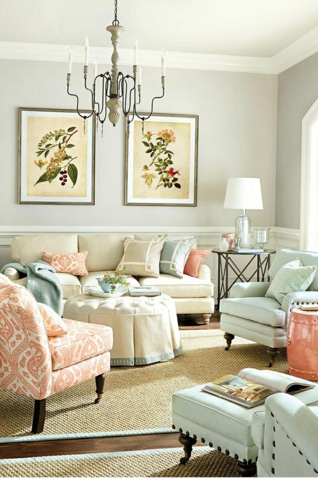 Wandfarben Wohnzimmer Perfekt On Auf Farben Für 55 Tolle Ideen Farbgestaltung 6