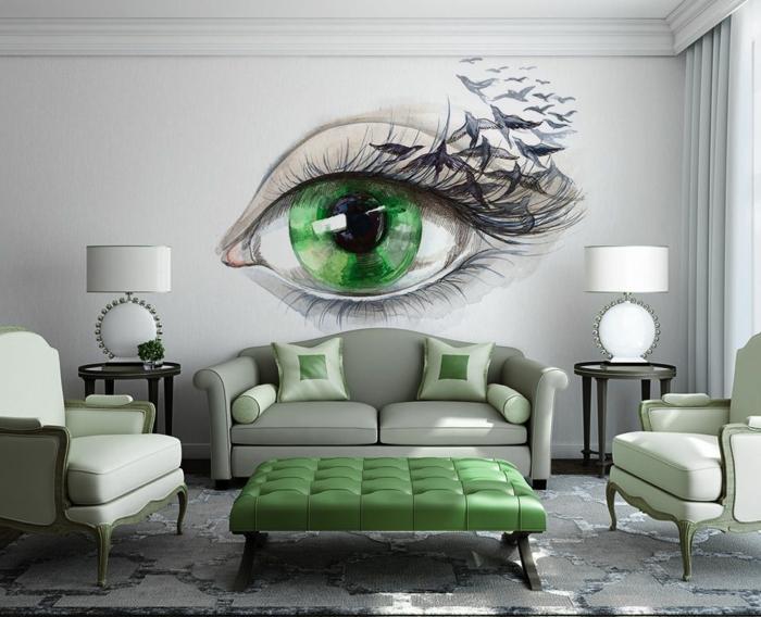 Wandgestalten Mit Farbe Perfekt On Andere Wandgestaltung Wohnzimmer Fur 1