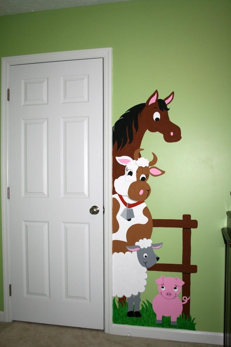 Wandgestaltung Farbe Ausgezeichnet On Andere Mit Ideen Handgemalte Motive 8