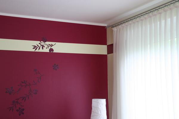 Wandgestaltung Farbe Imposing On Andere Für Mit Streifen Schlafzimmer Zusammen Oder 2