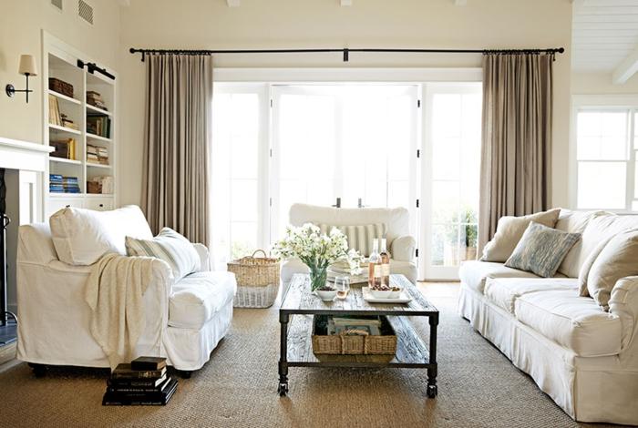 Wandgestaltung Landhausstil Wohnzimmer Einfach On Mit Amocasio Com 3