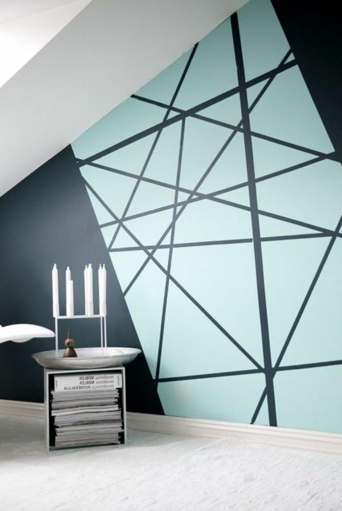 Wandgestaltung Schön On Andere Innerhalb Geometrische Formen Tolle Mit Farbe Archzine Net 8