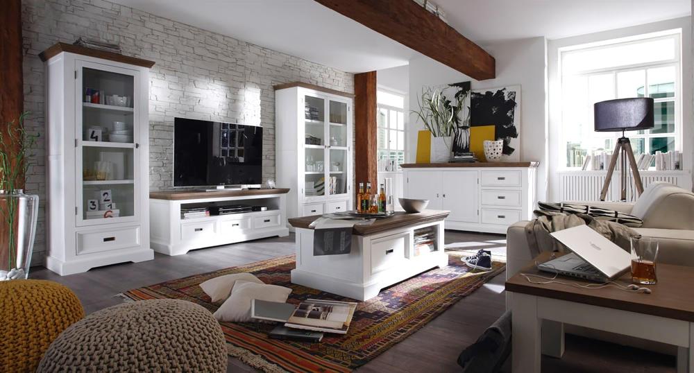 Wandgestaltung Wohnzimmer Weiße Möbel