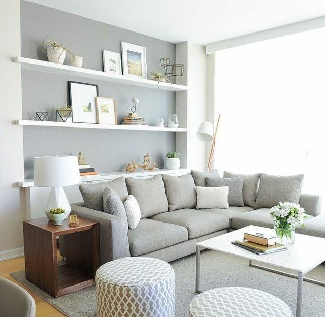 Wandgestaltung Wohnzimmer Weiße Möbel Glänzend On Beabsichtigt Beige Wandfarbe Weie Mbel Cabiralan Genial 9