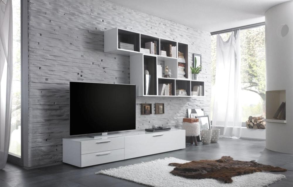 Wandgestaltung Wohnzimmer Weiße Möbel Herrlich On Beabsichtigt Us 3