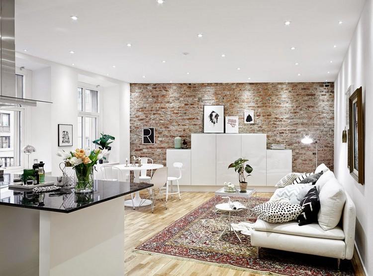 Wandgestaltung Wohnzimmer Weiße Möbel Kreativ On überall Im 85 Ideen Und Beispiele 1