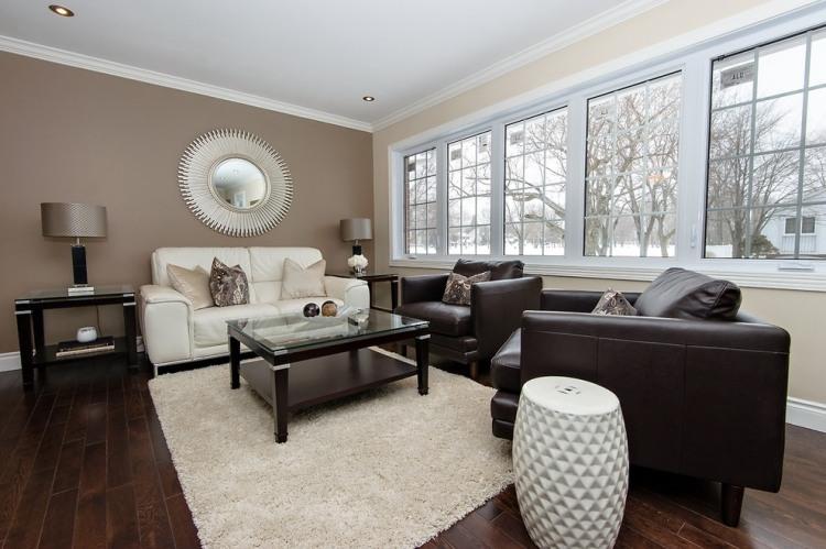 Wandgestaltung Wohnzimmer Weiße Möbel Stilvoll On In Bezug Auf Wandfarbe Schwarz Weiß 2