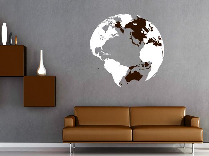 Wandideen Herrlich On Ideen Und Wandtattoo Räumlicher Globus Als 3D Weltkarte Bei Homesticker De 2