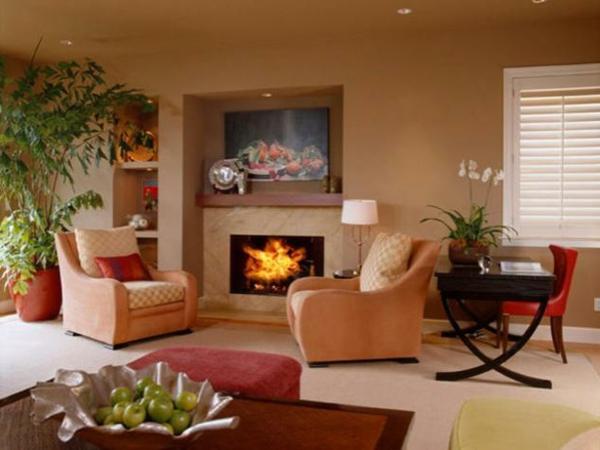 Warme Farben Fürs Wohnzimmer Zeitgenössisch On In Wandfarben Genießen Sie Eine Gemütliche Atmosphäre Zu 7