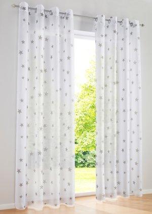 Weiße Gardinen Mit Grauen Sal Großartig On Andere In Bezug Auf Für Jedes Fenster Bei Bonprix Online Kaufen 8