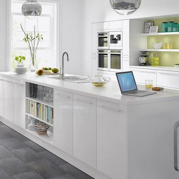 Weiße Küche Weiße Arbeitsplatte