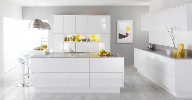 Weiße Küche Arbeitsplatte Glänzend On Andere Mit Kuche Weise Fur Gut Haupt Auf Auch 9