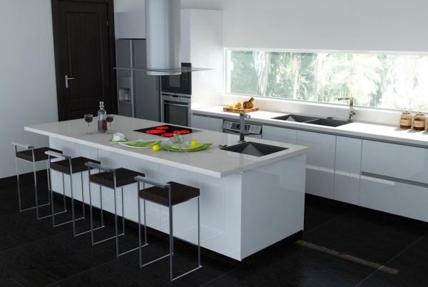 Weiße Küche Arbeitsplatte Imposing On Andere In Kuche Weise Fur Arbeitsplatten Der 4