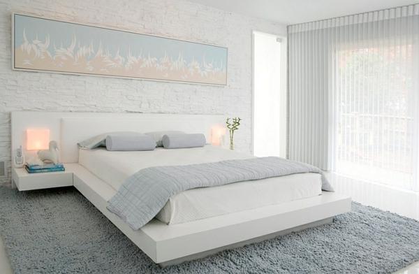 Weiße Schlafzimmer Großartig On Auf Weiss Blau Gestalten For Designs Lah200709040 Bett 8