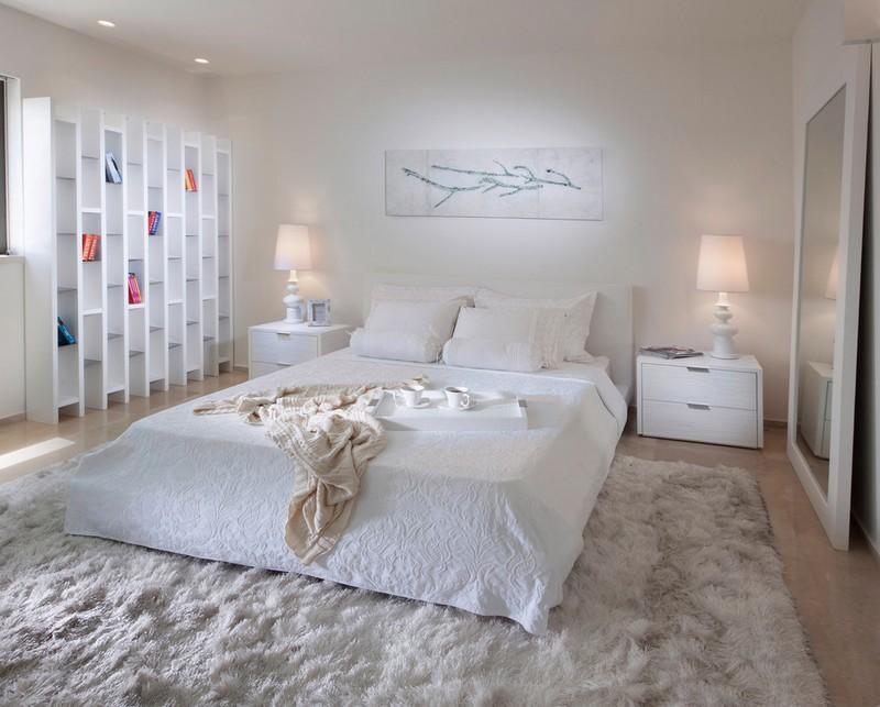 Weiße Schlafzimmer