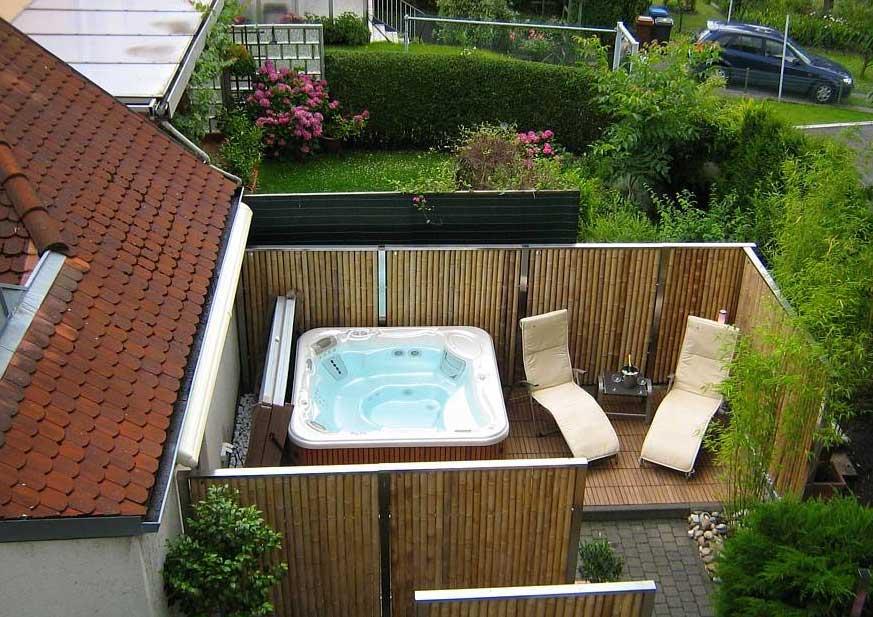 Whirlpool Sichtschutz Exquisit On Andere In Bambus Rustikale Atmosphäre Für Ihren Außengestaltung 7