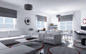 Wohnung Gestalten Grau Weiß